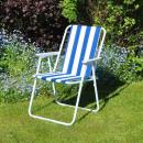 grossiste Sports & Loisirs: 4 chaises de plage à rayures