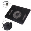 One fan laptop cooling pad, black