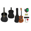 wholesale Music Instruments: Acoustic guitar set for beginners in 2 colors