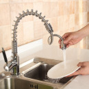 Großhandel Badmöbel & Accessoires: Wasserhahn Auslauf flexibel, LED-Licht