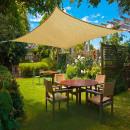 grossiste Parasols et Abris de jardin: Voile pare-soleil carrée 3,6 m, beige
