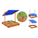 wholesale Garden playground equipment: Sandpit with shading roof