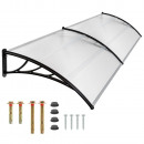 wholesale Garden & DIY store: Plastic canopies  240 x 90 cm, double, black
