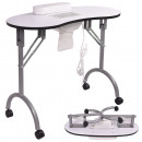 Manicure table with gift bag and fan