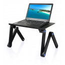 Multi-point adjustable laptop holder