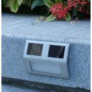 Wall mounted outdoor solar lamp