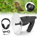 Richt-Parabolmikrofon mit Kopfhörer