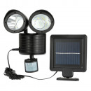 Double  motion-sensing solar lighting