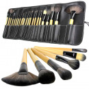 Semi-finished  24-piece make-up brush set, with hol