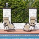 grossiste Meubles de jardin: Chaise de jardin zéro gravité avec porte-gobelet 2