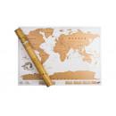 Scratch world map, 88 x 52 cm