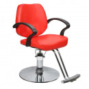 Barber chair in red