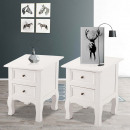 wholesale Small Furniture: 2-piece bedside table set, white