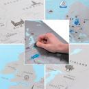 Großhandel Geschenkartikel & Papeterie:Rubbelkarte von Europa