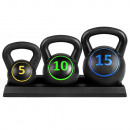 wholesale Sports and Fitness Equipment:Kettlebell set, 3 pcs