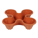 wholesale Garden & DIY store: 4 plastic potted flower pot