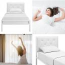 hurtownia Mieszkanie & Dekoracje: Metalowa rama łóżka Hanna 180*200, 2 kolory