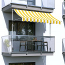 wholesale Parasols & Pavilions: Roll-up awning, yellow stripes, 200x120 cm