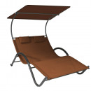 wholesale Garden Furniture: DELUX sunbed for 2 people in 3 colors