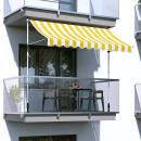 nagyker Függönyök és sötétítők: Feltekerhető napellenző, sárga csíkos, 300x120 cm
