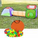 Großhandel Outdoor-Spielzeug: Spielzelt mit Tunnel + 200 Geschenkbällen