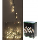 grossiste Chaines de lumieres: 120 LED blanc  chaud guirlande lumineuse de 12 m