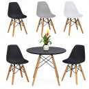 wholesale furniture: 4 modern dining chairs with table in 3 colors