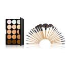 Großhandel Make-up: 15 farbige Konturpaletten mit 24 Make-up-Pinseln