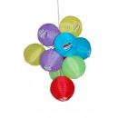 grossiste Articles de fête: 10LED lanternes  solaires fête balle 10pcs