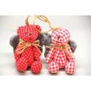 De decoratie van Kerstmis Bear 9cm