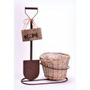 mayorista Plantas y macetas: cestas de mimbre flor 32x19x46 pala