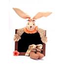 Ostern Kaninchen  Kreidetafel 17x1x50cm
