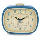 Alarm clock, retro, blue 7.8x10x12.5cm