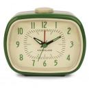 Alarm clock, retro, green 7.8x10x12.5cm