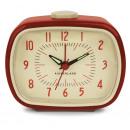 Alarm clock, retro, red 7.8x10x12.5cm