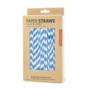 Paper stripe striped, blue 144pcs 3,8x12,1x20,3cm