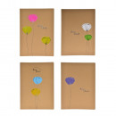 Decoration booklet with flowery 18,8x26cm