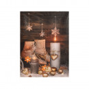 wholesale Pictures & Frames: Christmas picture with LED 15x20x1,8cm