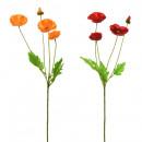 Silk Flower Poppy Bouquet 55cm