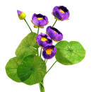 Silk Flower Waterlily Bouquet 62cm