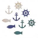 Fish, anchor, rudder 3cm