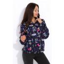 wholesale Shirts & Blouses: Shirt, motif, feminine, quality, navy blue