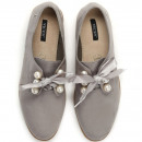 grossiste Bijoux & Montres: Chaussures à  égalité, arc, perles, gris