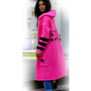 wholesale Pullover & Sweatshirts: Sweater, cardigan with a hood STYLE, fuchsia