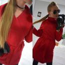 wholesale Coats & Jackets: Coat, belt, pockets, long, burgundy