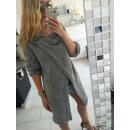 wholesale Fashion & Mode: Layered sweater,  cardigan, coat, gray uni
