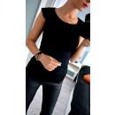 Großhandel Hemden & Blusen: Bluse mit Kragen, schwarz, in voller Größe