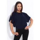 Großhandel Hemden & Blusen: Bluse, elegant, weiblich, Qualität, Marineblau