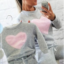 wholesale Childrens & Baby Clothing: Baby Hoodie, heart, gray, pink