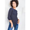 wholesale Shirts & Blouses: Shirt, blouse, mist, dots, dark blue